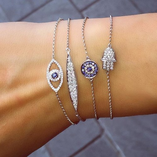 Hamsa and Evil Eye braclets