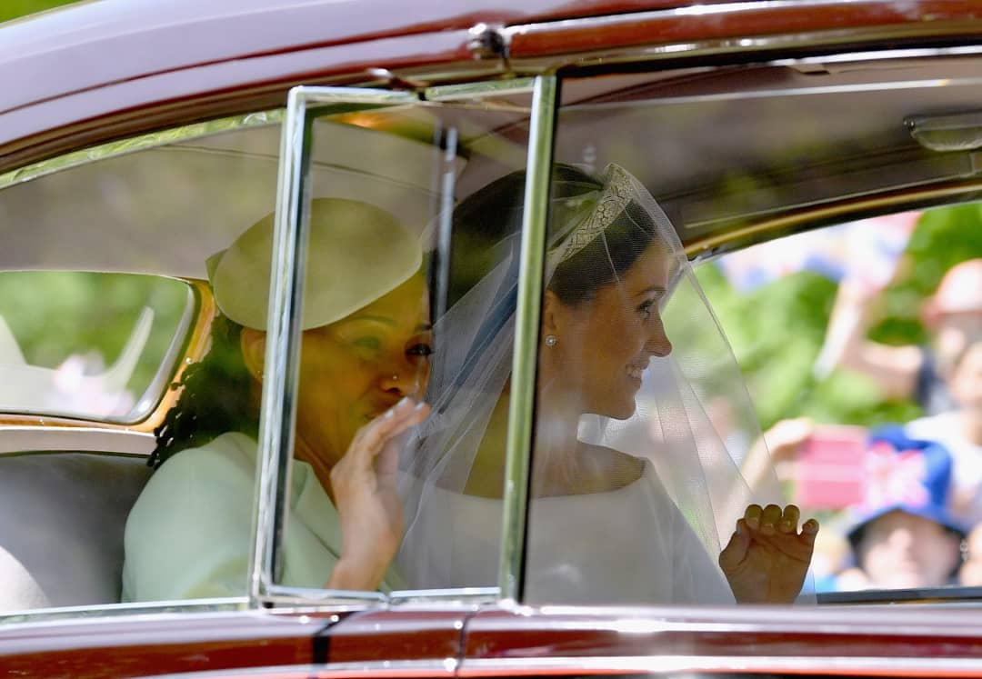 The bride arriving