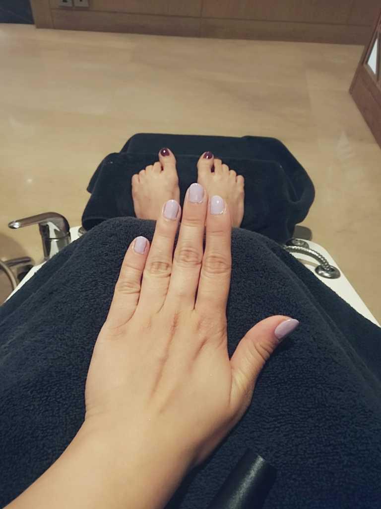 Manicure, pedicure session