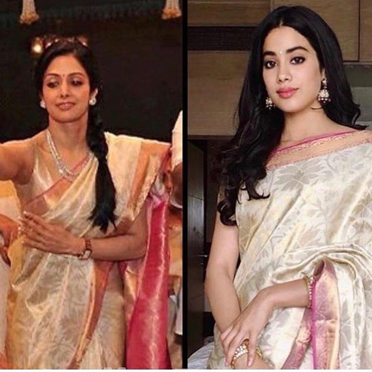Janhvi Kapoor Wears Mom Sri Devi's Saree at National Awards