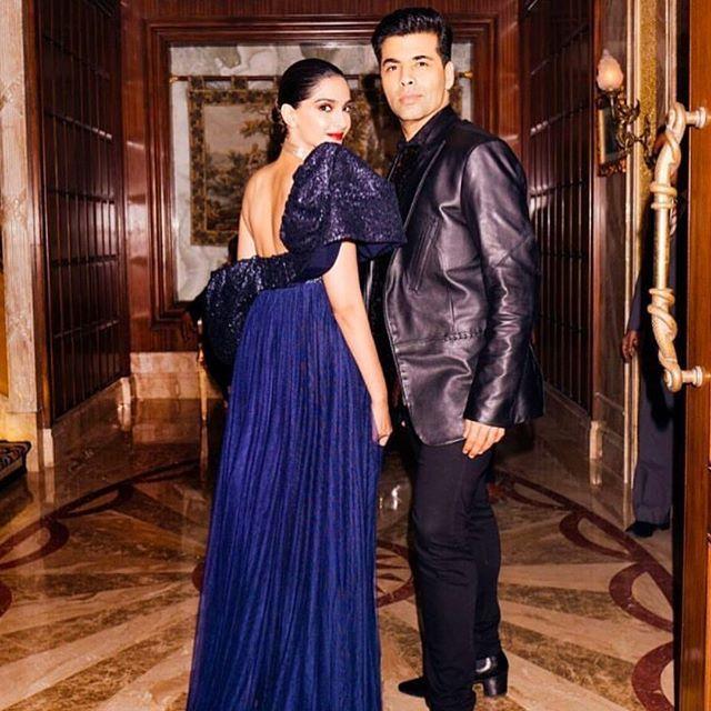 Sonam with Karan Johar
