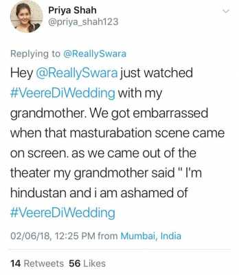 Swara Bhasker Trolled for Masturbation Scene