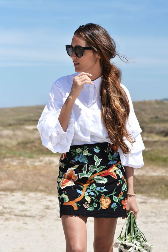 6 ways to carry embroidered skirts this summer