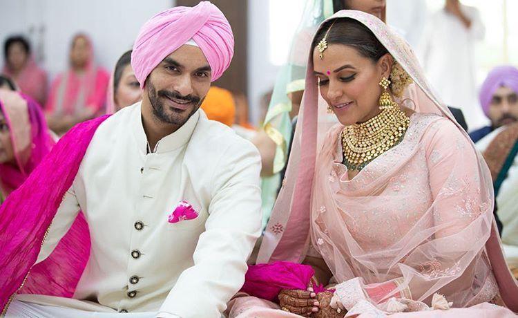 Neha Dhupia and Angad Bedi's wedding