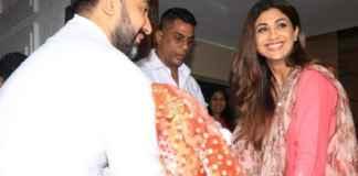 Shilpa Shetty and Raj Kundra bringing home Ganpati Bappa