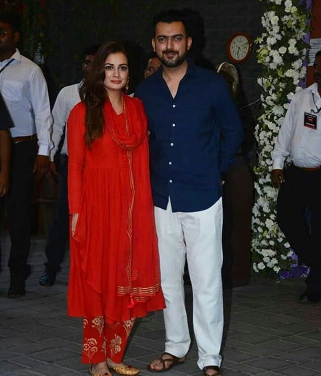 Dia Mirza with Hubby