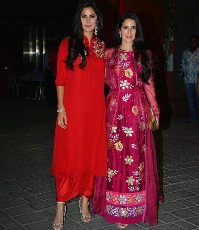 Katrina Kaif with sister Isa kaif