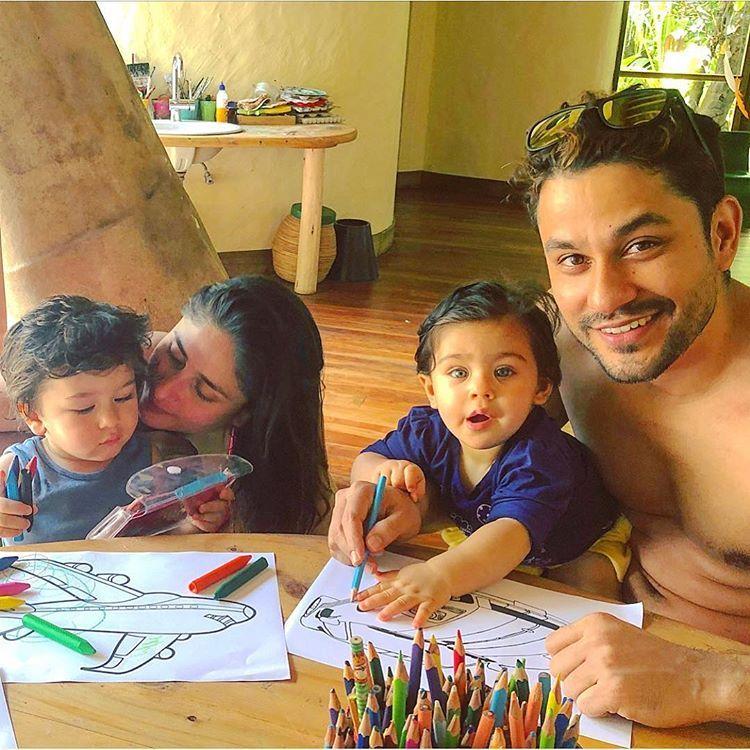 Kiddos coloring time