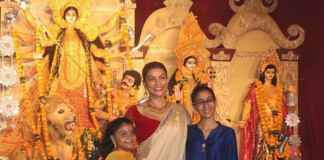 Sushmita Sen's Adorable Dhunuchi Naach with Daughters