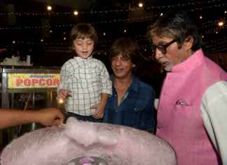 Cutest Picture of SRK's son AbRam with Big B that you cannot miss