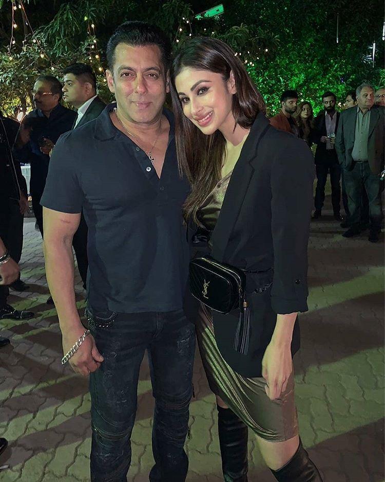 Bhai with Mouni Roy