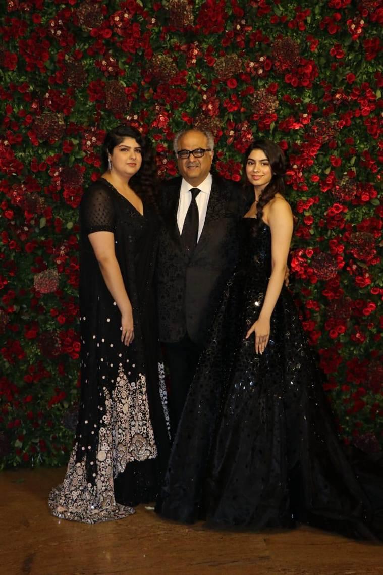 Boney, Anushla and Khushi Kapoor