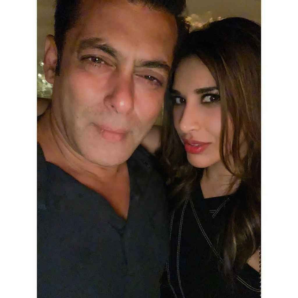 Salman with Sophie Chaudhary