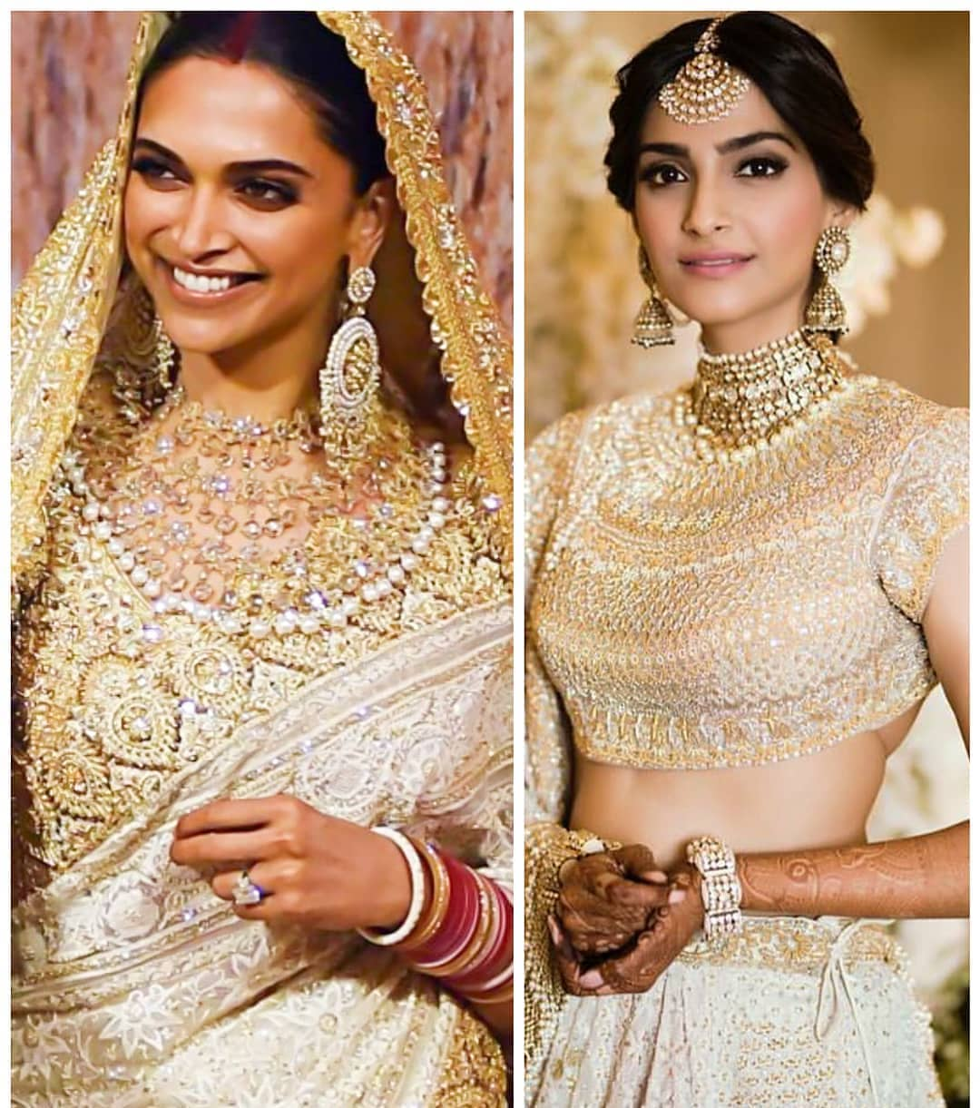 The Double bridal Dupatta trend is on