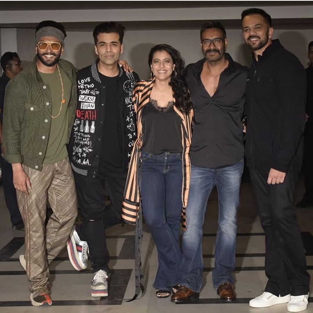Ranveer, Karan, Kajol, Ajay and Rohit