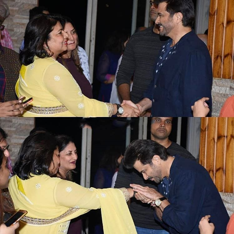 Anil Kapoor greeting mama Chopra