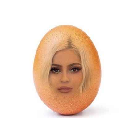 Battle between Kylie and an egg creating storm on Internet
