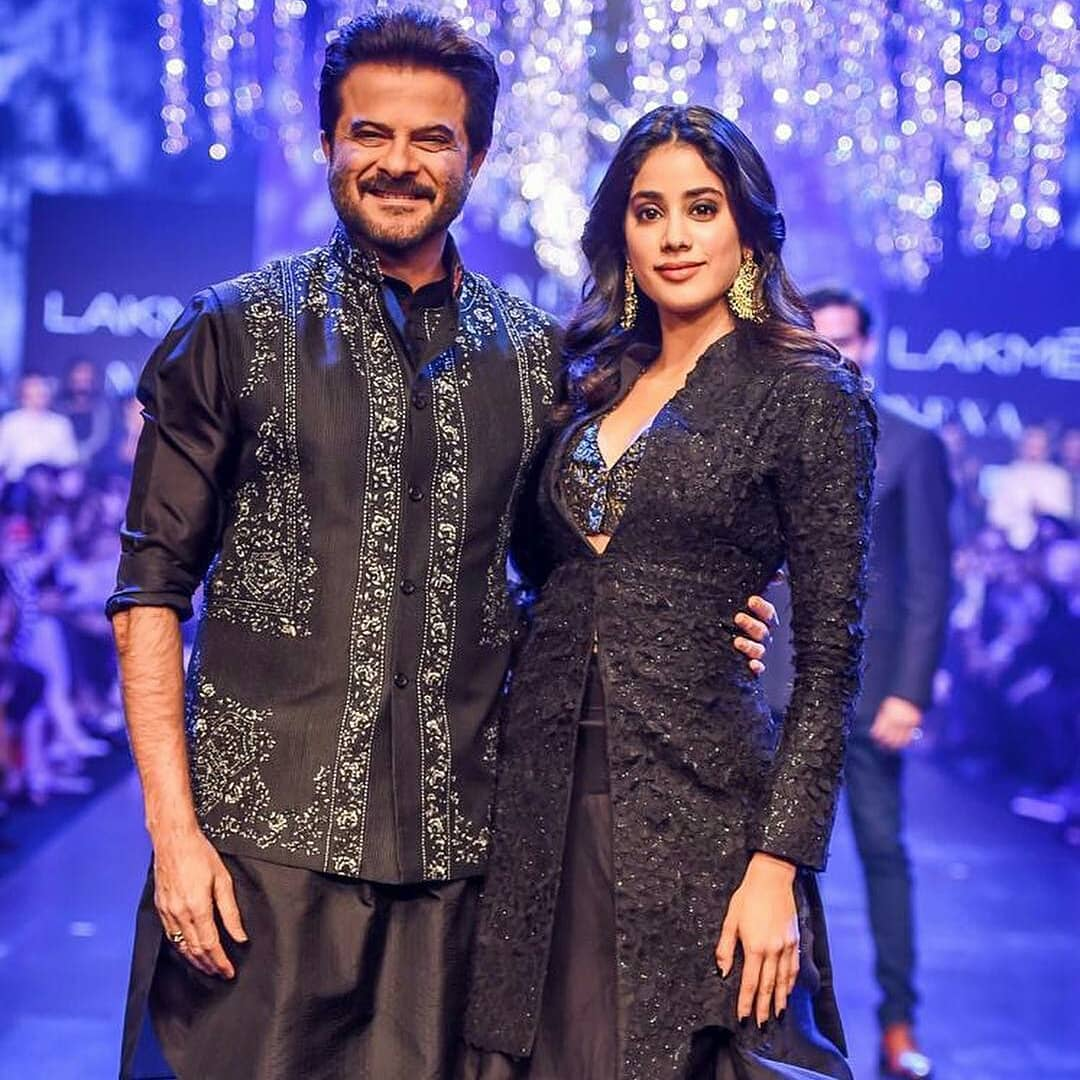 Janhvi and Anil Kapoor