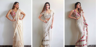 Famous Divas who rocked in Ruffle Saree