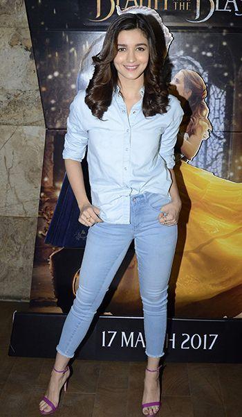 Alia Bhatt keeping it casual yet stylish.