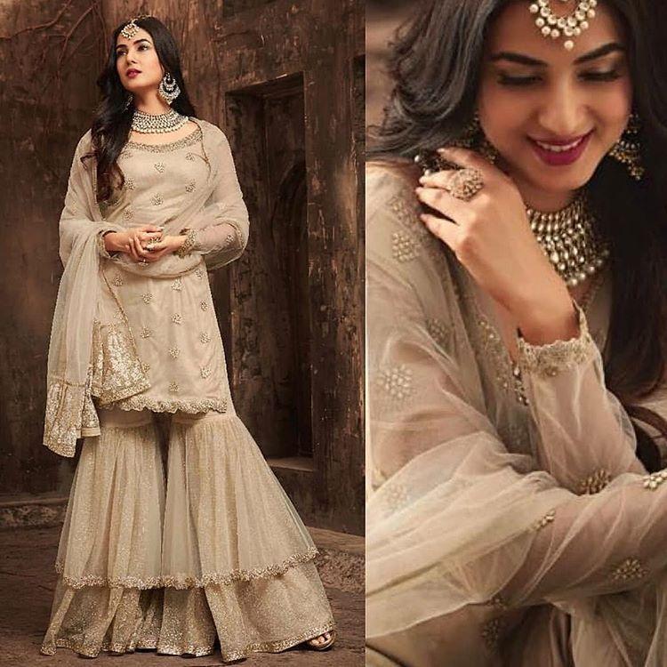 Heavy Gharara for wedding