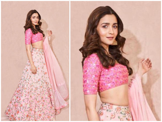 The floral pink lehenga