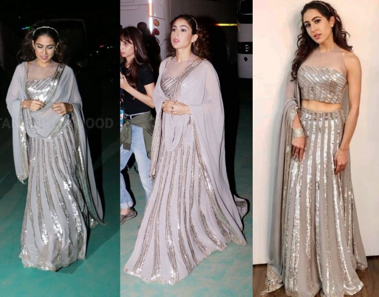 Sara Ali Khan in grey