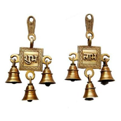 Ethnic Brass Shubh Labh Hanging Bells