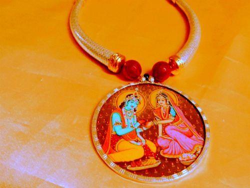 Radhay krishna pendent